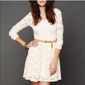New✨Free People Rose Garden Ivory Dress Size Small